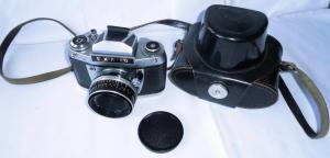 Ihagee Spiegelreflexkamera Kamera EXA Ia mit Tasche (103833)