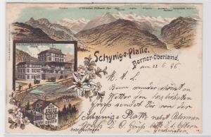 85355 Ak Lithographie Schynige Platte berner Oberland 1896