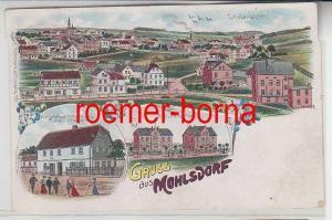 75646 Ak Lithografie Gruss aus Mohlsdorf Materialwarenhandlung usw. 1910