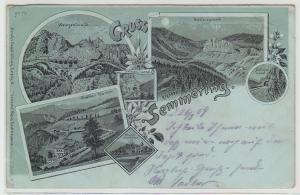 68665 Mondscheinkarte Gruss vom Semmering 1909