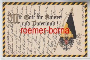 73134 Ak Patriotika Mit Gott für Kaiser und Vaterland! um 1910