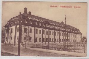 88170 Ak Örebro Schweden Skofabriken Örnen um 1920