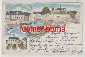 78202 Ak Lithographie Gruss aus Clausnitz Gasthof usw. 1900