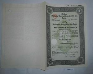 3000 Mark Aktie städt. Elektrizitätswerke AG Berlin Februar 1934 (132381)