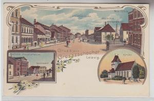 70245 Ak Lithografie Gruss aus Grosszschocher bei Leipzig um 1900