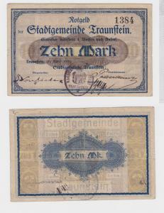 10 Mark Banknote Notgeld Stadtgemeinde Traunstein 20.04.1919 (119872)