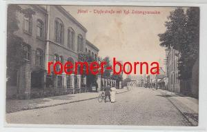 78777 Ak Memel Klaipėda Töpferstraße mit kgl.Luisengymnasium um 1917