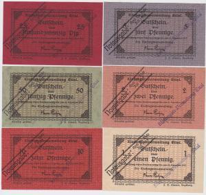 6 Banknoten Notgeld Klostergutsverwaltung Ettal Juli 1919 (122526)