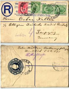 67265 Einschreiben Brief Windhuk Südwestafrika nach Leipzig 8. April 1929