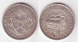 5 Mark Silber Münze 100 Jahre Bremerhaven 1927 A (MU6577)