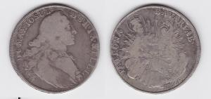 1 Taler Silber Muenze Bayern Karl II. Theodor 1766 Madonnentaler (124278)