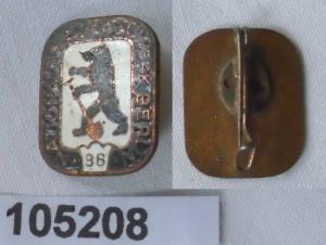 DDR Abzeichen Nationales Aufbauwerk Berlin mit Zahl 36 (105208)