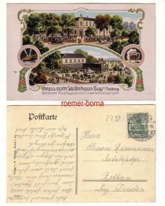 79473 Ak Lithografie Gruss vom Stollnhaus Zug b. Freiberg 1912