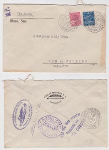 82434 seltener Luftpostbrief von Florianopolis nach Rio de Janeiro 1929