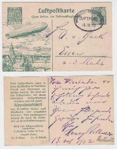 86270 Ganzsachen Luftpostkarte Frankfurt am Main 1912