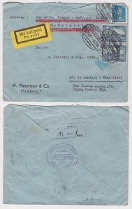 88465 seltener Luftpostbrief von Hamburg nach Rio de Janeiro 1929