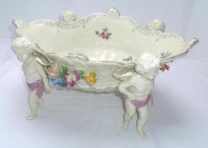 Wunderbare Porzellan Schale Potschappel um 1920