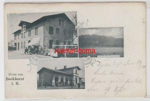 78346 Mehrbild Ak Gruss aus Bockhorst i.H. Restaurant, Bahnhof Mühlenteich 1901