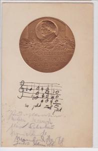 41924 Präge AK F. Schubert 1797-1828 - Immer Bleibe dir Liebe, Verehrung & Dank