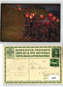 58443 Ganzsachen Ak Bundesfeier Schweiz 1.August 1912