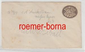 75861 alter Ganzsachen Brief Indien Haidarabad 1 Anna braun 1878/87