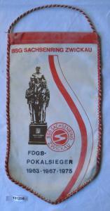 DDR Wimpel FDGB Pokalsieger BSG Sachsenring Zwickau 1975 (101298)