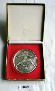 Rare Medaille DDR VI. Turn- und Sportfest Leipzig 1977 (112574)