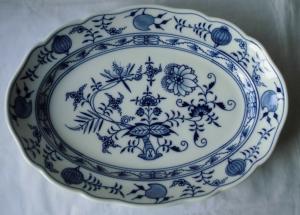 Meissen Porzellan Zwiebelmuster schöne große Beilagenplatte 36 cm (117908)