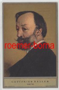 73347 Schweiz Bundesfeier Ganzsachen Ak Gottfried Keller 1919