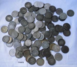 100 interessante Silber Münzen 1 Mark Kaiserreich (110410)