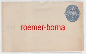 74638 seltene Ganzsachen Brief Ecuador 5 Centavos Blau auf Weiß 1887