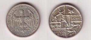 3 Mark Silber Muenze Universitaet Marburg 1927 (116156)