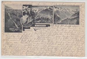 12691 Mehrbild Ak Mürren Schweiz 1895