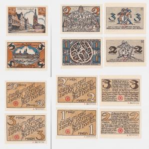 6 Banknoten Notgeld 675 Jahre Stadt Dorsten o.D. (1922) (122167)