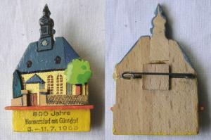 DDR Holz Abzeichen 800 Jahre Hormersdorf mit Günsdorf 1965 (122996)