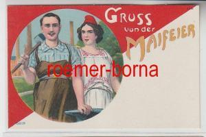 74166 Politik bzw. Propaganda Ak Gruss von der Maifeier um 1910