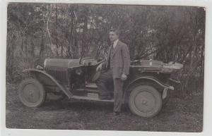 36084 Foto Ak altes Automobil mit Faltdach 1927