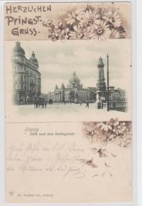 87221 AK Leipzig Blick nachdem Reichsgericht - Herzlichen Pfingstgruss 1901