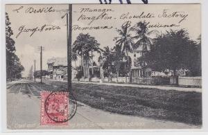 85072 AK Demerara, British Guiana - Straßenansicht 1909
