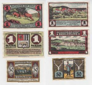 3 Banknoten Notgeld Stadt Berleburg 1921 (115411)
