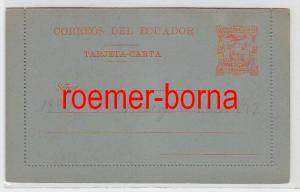74725 seltene Ganzsachen Postkarte Ecuador 10 Centavos Orange 1891