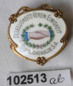 Rare Anstecknadel Braunichswalde S.-A. Geselligkeitsverein Einigkeit (102513)