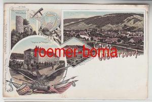 36938 Ak Lithografie Gruss aus Wöllersdorf Kaserne usw. um 1900