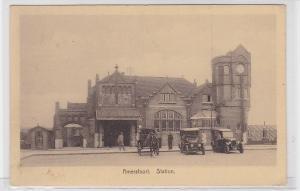 90029 Amersfoort Station Bahnhof mit Autos davor um 1930