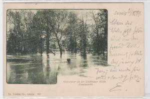 87740 AK Leipzig - Hochwasser an der Lindenauer Mühle (Luppepartie) - 1899