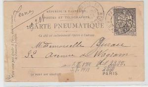 70596 seltener Ganzsache Frankreich Postes et Telegraphes 1898