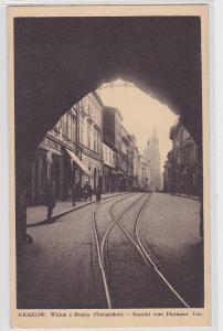 87732 AK Krakow - Widok z Bramy Florianskiej, Ansicht vom Florianer Tor 1939