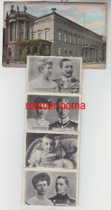 69926 Leporello Ak Berlin Palais Kaiser Wilhelm I. mit Kaiserfamilie 1908