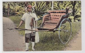 68928 Ak Typical South Afrika Ricksha Boy um 1910