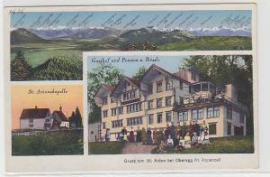 61541 Mehrbild Ak Gruß von St.Anton bei Oberegg Kt.Appenzell Gasthof um 1915